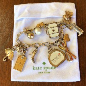 """Kate Spade All Aboard Charm Bracelet 8.5"""" long"""